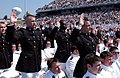 US Navy 070525-N-0593C-001 The Marine Corps' newest second lieutenants take the oath of office during the Class of 2007 graduation and commissioning ceremony.jpg