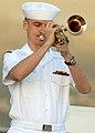 US Navy 081111-N-5476H-092 Musician 3rd Class Ivan Boshkovich plays.jpg