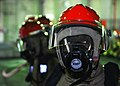 US Navy 100505-N-2218S-002 Gas Turbine System Technician (Mechanical) Fireman Josh Fears from Chesapeake, Va., mans a fire hose.jpg