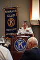 US Navy 100609-N-5208T-001 Rear Adm. Gerald R. Beaman speaks with the Kiwanis Club of Milwaukee about the Navy's slogan, A Global Force for Good during Milwaukee Navy Week 2010.jpg