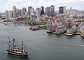 US Navy 110603-N-SH953-005 USS Constitution sails into Boston Harbor during an underway Battle of Midway commemoration.jpg