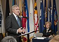 US Navy 111104-N-AC887-001 Secretary of the Navy (SECNAV) the Honorable Ray Mabus addresses attendees at the Female Flag Training Summit at the Wom.jpg