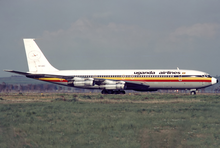 Uganda Airlines Boeing 707-300C 5X-UBC FCO Apr 1983.png