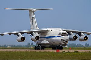 Ukrainian Air Force Ilyushin Il-76 shoot-down - Ilyushin Il-76MD (76777) seen at Kubalkino (Mykolaiv) one month prior to being shot down