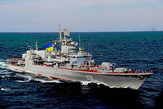 Ukrainian frigate <i>Hetman Sahaydachniy</i> Krivak-class frigate