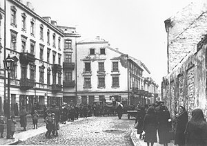 Isaac Bashevis Singer - Krochmalna Street in Warsaw near the place where the Singers lived (1940 or 1941)