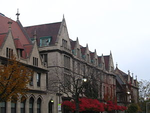 University of Chicago Laboratory Schools - Judd Hall as visible from the adjacent Charles M. Harper Center.