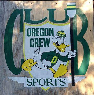 University of Oregon rowing team - University of Oregon Club Crew Logo