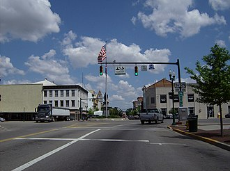 Urbana, Ohio - Located at the center of Urbana is a large traffic circle.