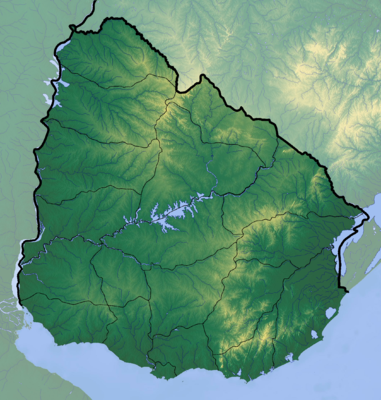 Location map Uruguay