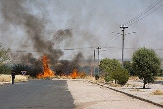 Usakos - Bush fire in Usakos, 2009