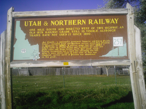 Utah and Northern Railway - Image: Utah Northern Railway