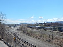 Open rail yard