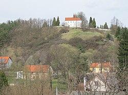 Všeruby - hradisko a kostel sv. Martina.JPG