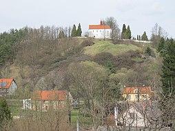 Všeruby - hradisko akostel sv.Martina