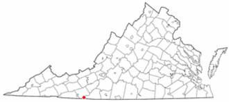 Cana, Virginia - Image: VA Map doton Cana
