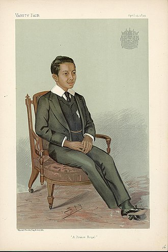 Vajiravudh - King Vajiravudh portrait in Vanity Fair in 1895