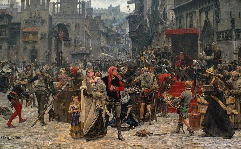 """Valdemar Atterdag holding Visby to Ransom, 1361"" by Carl Gustaf Hellqvist"
