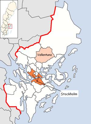 Vallentuna Municipality - Image: Vallentuna Municipality in Stockholm County