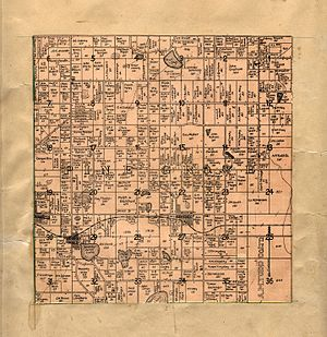 Pine Grove Township, Michigan - A 1906 cadastral map of Pine Grove Township, showing property lines and names of rural landowners