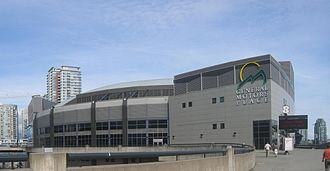 Vancouver Grizzlies relocation to Memphis - General Motors Place, now Rogers Arena, was the Vancouver Grizzlies' home arena.