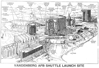 Vandenberg AFB Shuttle Launch Site, USAF drawing Source: Wikipedia 320px-Vandenberg_AFB_Shuttle_Launch_Site.PNG