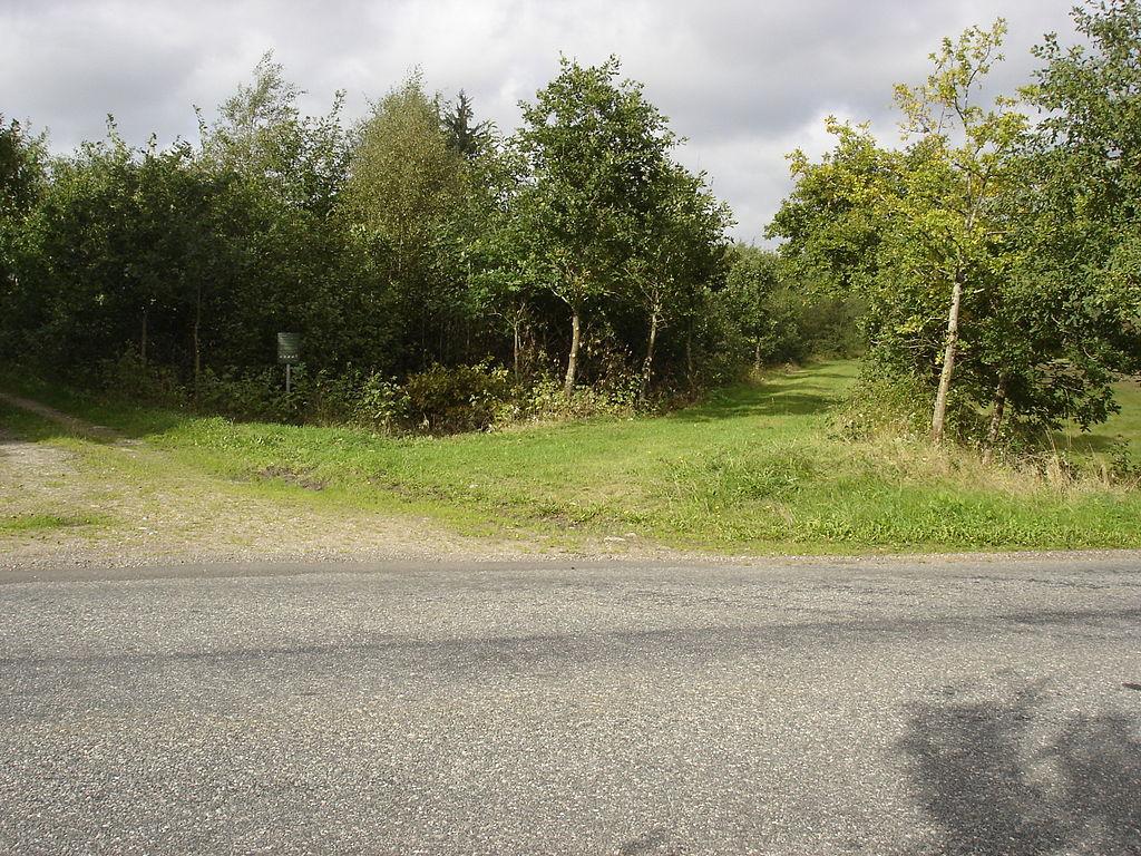 Bindeballestien krydser Hærvejen mellem Bindeballe og Randbøl