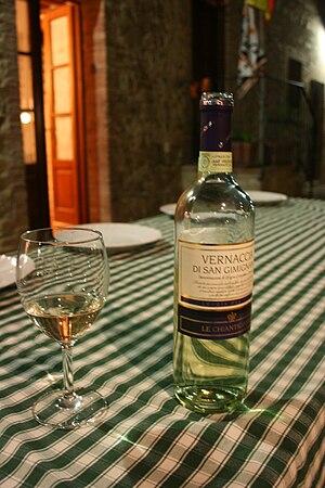 Vernaccia - A Tuscan wine made from Vernaccia.