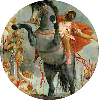 Marcus Curtius - The Sacrificial Death of Marcus Curtius (1550–52) by Paolo Veronese