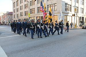 Veterans Day - Veterans Day parade in Baltimore, Maryland, 2016