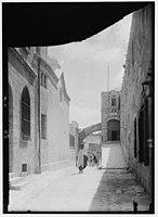 Via Dolorosa, beginning at St. Stephen's Gate. Second Station of the Cross LOC matpc.00022.jpg
