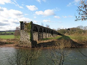 Monmouth Viaduct - Image: Viaduct, River Wye, near Monmouth geograph.org.uk 1179644