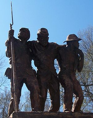 Military history of African Americans in the American Civil War - Monument to U.S. Colored Troops at Vicksburg National Military Park