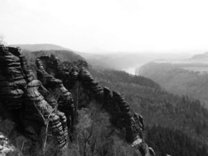 Elbe Sandstone Mountains in Saxony (Germany)
