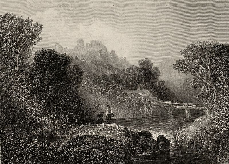 File:View in the vale of Llangollen - Crow castle in the distance.jpeg