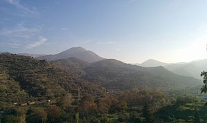 Icaria - View of mountain range from Kampos, Ikaria