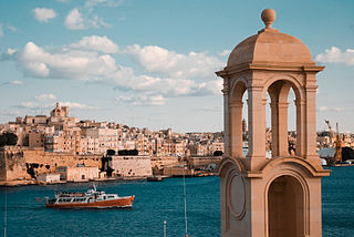 View of the Old Walled City of Valletta and its harbor. Malta, Mediterranean Sea.jpg