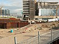 View over large earthworks for new constructions on Oosterdokseiland in Amsterdam-Centrum, 2006.jpg
