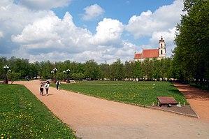 Lukiškės Square - Square as seen from Gediminas Avenue (2008)