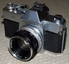Vintage Mamiya-Sekor 35mm SLR Camera, Model 500 TL, Fully Mechanical, 42mm Threaded Mount, Made In Japan, Circa 1966 (13364337754).jpg