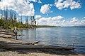 Visitor enjoying the western shorline of southeast arm of Yellowstone Lake (44349266-ab49-47f7-8119-0b7cc4febd9b).jpg
