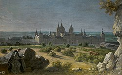 Michel-Ange Houasse: View of the Monastery of San Lorenzo del Escorial