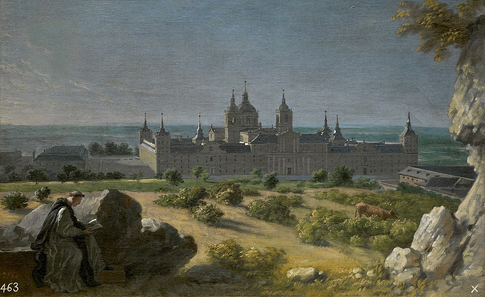 Vista del Monasterio de El Escorial, por Michel-Ange Houasse
