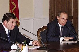Alexander Lebed - Lebed meeting with President Vladimir Putin, 2002
