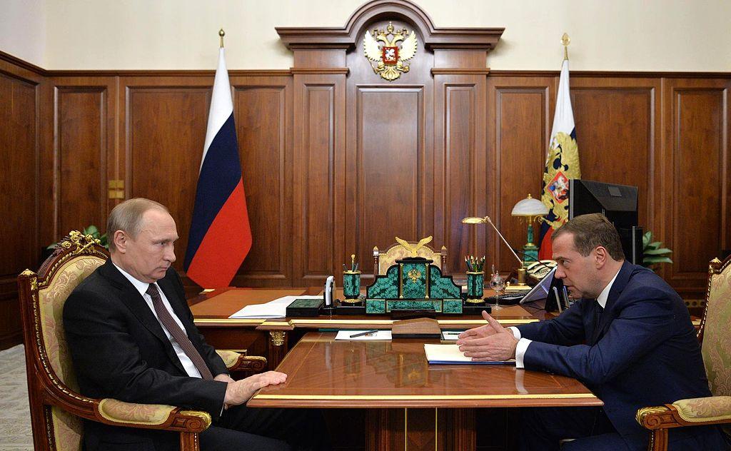 Vladimir Putin and Dmitry Medvedev (2016-04-18)