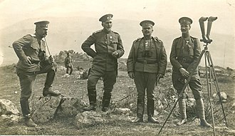 Kingdom of Bulgaria - Bulgarian officers on the Macedonian Front