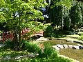 Vue sur le pont japonais jardin Albert Kahn.JPG