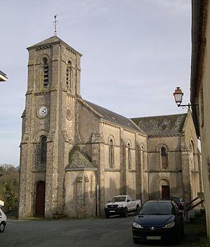 Mortagne-sur-Sèvre - The church in the village of Evrunes, in Mortagne-sur-Sèvre