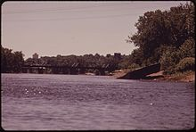 WEST BANK OF THE MISSISSIPPI RIVER NEAR 55TH AVENUE, NORTH, IN BROOKLYN CENTER, A SUBURB OF MINNEAPOLIS - NARA - 551527.jpg