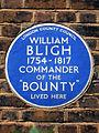 WILLIAM BLIGH 1754-1817 COMMANDER OF THE BOUNTY LIVED HERE.jpg